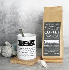 coffee gift sets personalised s day mug and coffee gift set by modo
