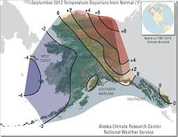 Tanana Alaska Map by September 2012 Synoptic Summary Alaska Climate Research Center