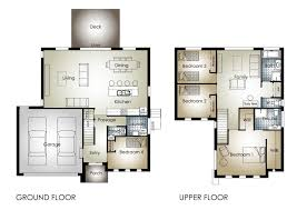 3 Bedroom House Design Story Home Plans For Narrow Lot With Elevator Waterfront House
