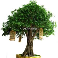 outdoor 4m height artificial ficus tree in golden color dongyi