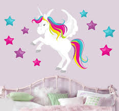 magical unicorn stars mural wall stickers children s bedroom magical unicorn stars mural wall stickers children s bedroom nursery decal transfer