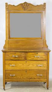 Antique Tiger Oak Dresser With Mirror by Dresser And Mirror By Innis Pearce U0026 Co