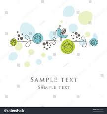nice greeting card template cute simple artistic stock vector