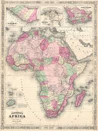 Picture Of Africa Map by File 1864 Johnson Map Of Africa Geographicus Africa Johnson