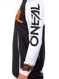 motocross jersey printing oneal black white orange 2017 mayhem lite blocker mx jersey