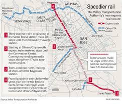 san jose light rail map faster light rail trains debut monday the mercury news