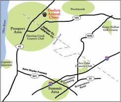 map of usa driving directions goshen animal clinic veterinarian in prospect ky usa