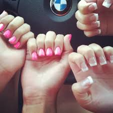 white tip and pink nails done by bryan yelp