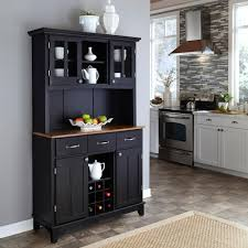 kitchen hutch furniture home styles black buffet with hutch 5100 0046 42 the home depot