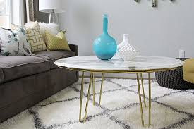 Marble Living Room Tables Diy Marble Top Coffee Table Withheart