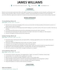 Detail Oriented Resume Download Bank Teller Resume Sample Haadyaooverbayresort Com
