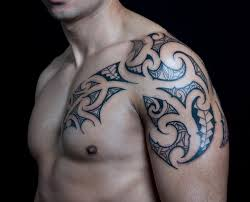 chest tribal tattoo by c jay tattoo