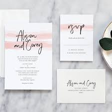 modern wedding invitations color wash modern wedding invitations day press