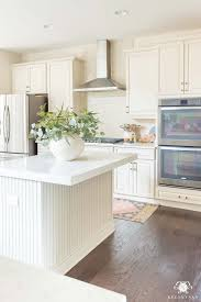 should i decorate on top of my kitchen cabinets kitchen island decor 6 easy styling tips kelley nan