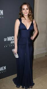 leighton meester at of mice and men broadway opening night after