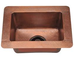 Copper Faucet Kitchen 905 Small Single Bowl Copper Sink