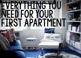first appartment checklist when you plan on moving into your first home or apartment