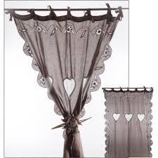 brise bise coeur produits les sculpteurs du lac rideau voile de lin chocolat avec