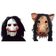 saw mask jigsaw saw pig puppet latex mask artificial hair