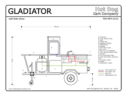 dog cart vending concession trailer stand brand new gladiator