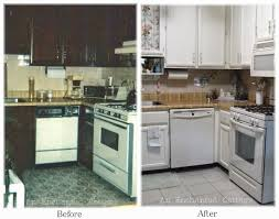 Before And After Kitchen Makeovers An Enchanted Cottage Our Mini Kitchen Makeover
