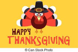 vector clipart of happy thanksgiving with turkey happy