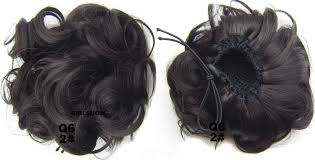 bun scrunchie bright and smooth curly and hair buns drawstring synthetic