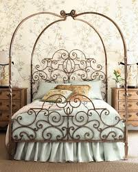 twin size princess style wrought iron metal canopy bed boys