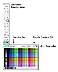 beginner u0027s guide to adobe flash color color swatches wikibooks