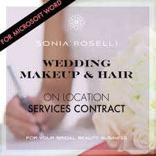 makeup contracts for weddings wedding makeup contract microsoft word glossible