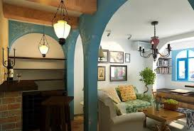 mediterranean style home interiors mediterranean home decor with high ceiling and fireplace andrea