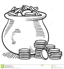 pot of gold sketch royalty free stock photos image 22888198