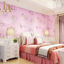 Bedroom Purple Wallpaper - aliexpress com buy yellow purple blue pink cartoon girls bedroom
