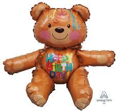 sitter birthday bear balloon inflate u0026 create