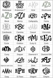 monogrammed fonts monogram fonts the polka dot store
