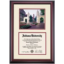 indiana premier the sample gates photograph diploma frame