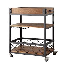 Dining Room Serving Cart by Amazon Com Tribecca Home Myra Rustic Mobile Kitchen Bar Serving