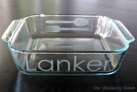 engraved dishes personalized etched glass bakeware tutorial silhouette winner