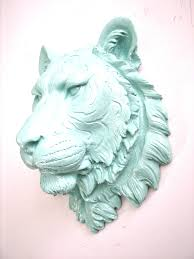 sea breeze faux taxidermy large tiger head wall mount home decor