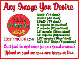 edible images custom order edible birthday cake and cupcake topper edible prints