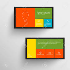 modern simple business card template with flat mobile user