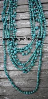 long turquoise necklace images Long strand of turquoise bead necklace jpg
