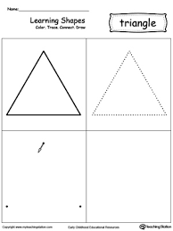 tracing different shape sizes square circle triangle and
