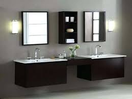 awesome lovely double sink vanity with makeup table bathroom