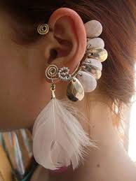 how to make feather ear cuffs 40 chic diy ear cuffs that you can make yourself page 6