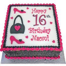 shoes and handbag birthday cake flecks cakes