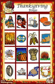 thanksgiving bingo downloadable printable or printed