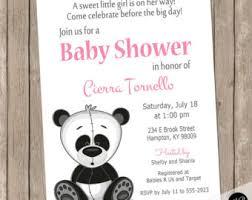 Panda Baby Shower Invitations - panda invite etsy