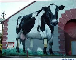 Barn Murals Cow Mural In Flagstaff Arizona