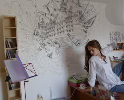 dessin mural chambre la volonté du d afficher le sujet vos dessins